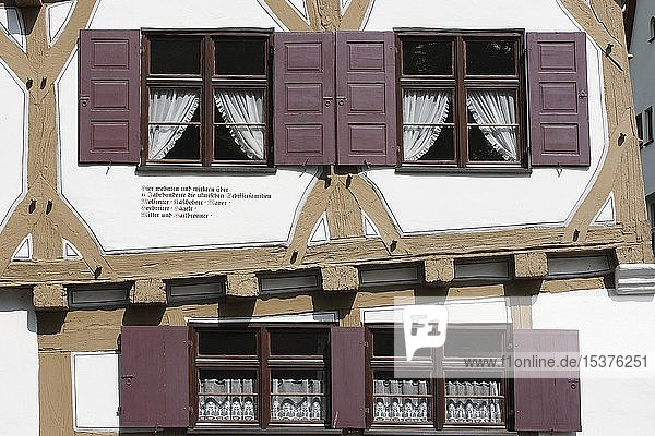 Baukunst  Fassade des Zunfthauses im Fischerviertel  Ulm  Oberschwaben  Baden-Württemberg  Deutschland  Europa