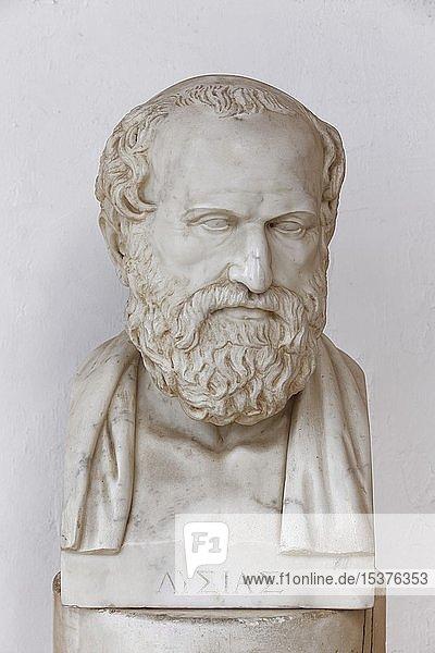 Büste des Lysias  griechischer Redenschreiber  Achilleion Palast  Gastouri  Insel Korfu  Ionische Inseln  Griechenland  Europa