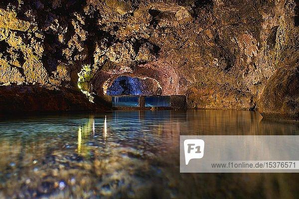 Lavahöhlen Grutas de Sao Vicente  Sao Vicente  Madeira  Portugal  Europa
