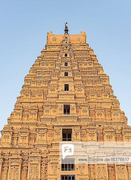 Nahaufnahme des Virupaksha-Tempels  Hampi  Indien  Asien