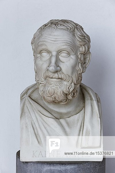 Büste des griechischen Philosophen Karneades von Kyrene  Achilleion Palast  Gastouri  Insel Korfu  Ionische Inseln  Griechenland  Europa