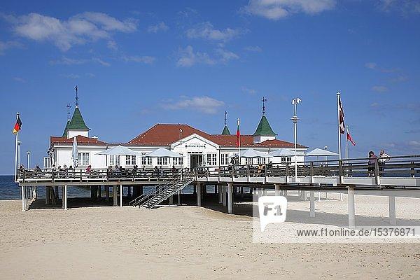 Historische Seebrücke Ahlbeck  Kaiserbäder  Ostseebad Ahlbeck  Insel Usedom  Mecklenburg-Vorpommern  Deutschland  Europa