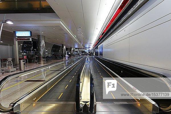 Escalator  Dubai International Airport  Dubai  United Arab Emirates  Asia