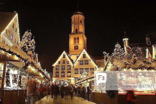 Weihnachtsmarkt in Biberach an der Riss,  Landkreis Biberach,  Oberschwaben,  Baden-Württemberg,  Deutschland,  Europa