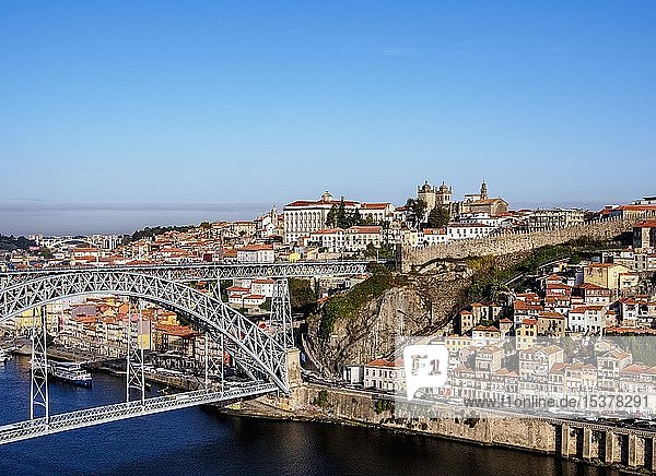 Ponte Dom Luís I  elevated view  Porto  Portugal  Europe