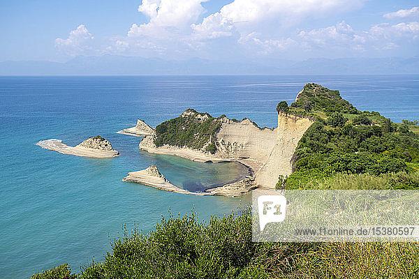 Szenische Ansicht des Meeres gegen den Himmel bei Korfu  Griechenland