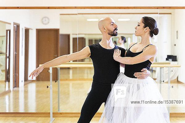 Paartänze im Ballettstudio