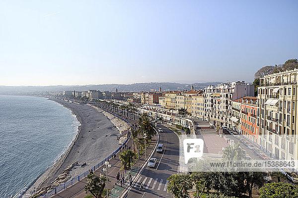 France  Provence-Alpes-Cote d'Azur  Nice  Promenade des Anglais  beach
