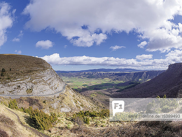 Spain,  Basque Country,  Euskadi,  Canyon del Nervion,  View from Mirador Puerto de Orduna