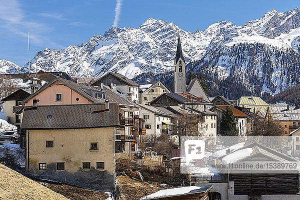 Schweiz  Engadin  Guarda  historisches Bergdorf