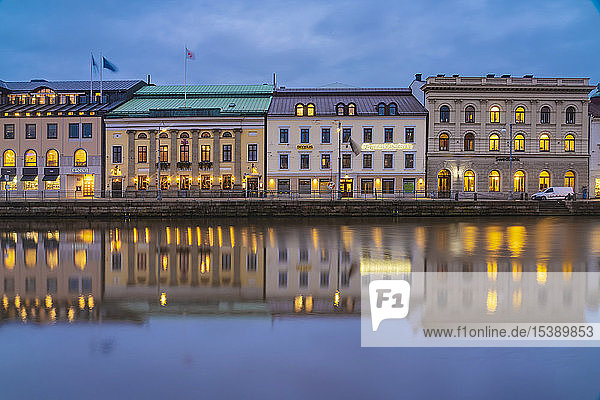 Sweden  Gothenburg  historic city center with view of Soedra hamngatan on the canal