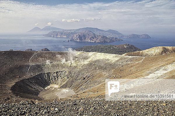 Aeolian Islands  Vulcano  Panoramic view from volcano