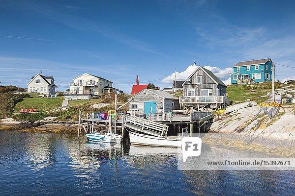 Canada  Nova Scotia  Peggy's Cove  fishing village on the Atlantic Coast.