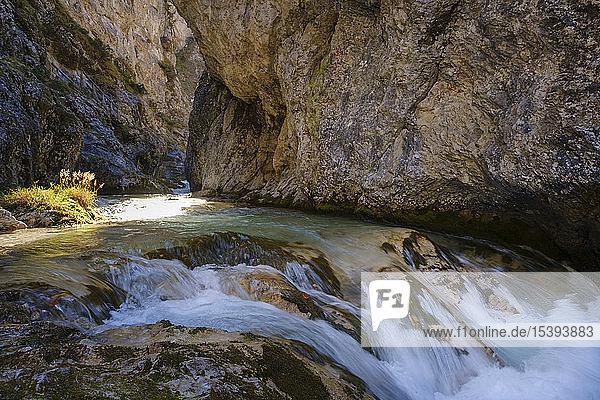 Österreich  Tirol  Karwendelgebirge  Gleirschklamm  Gleirschbach