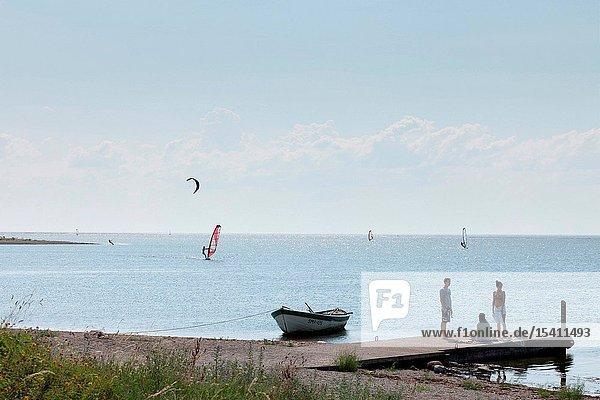 Kitesurfing on Sõrve peninsula  Saaremaa island