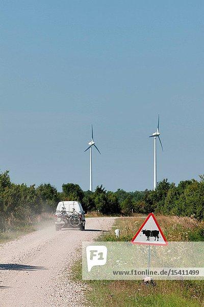 Wind generators on Sõrve peninsula  Saaremaa island