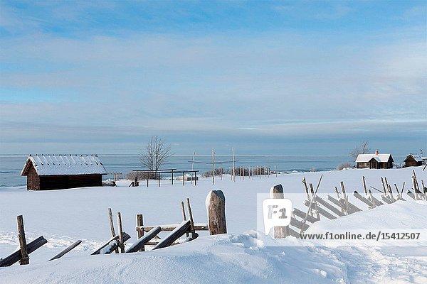 Viimsi museum in winter