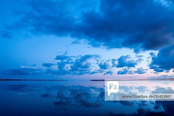 Sunset over the sea  Muhu Island