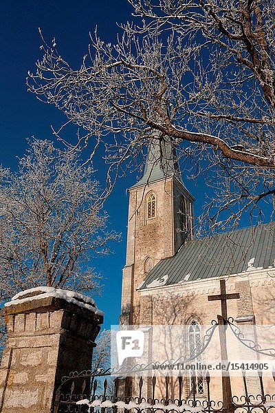 Church in Nissi  Harju county  Estonia