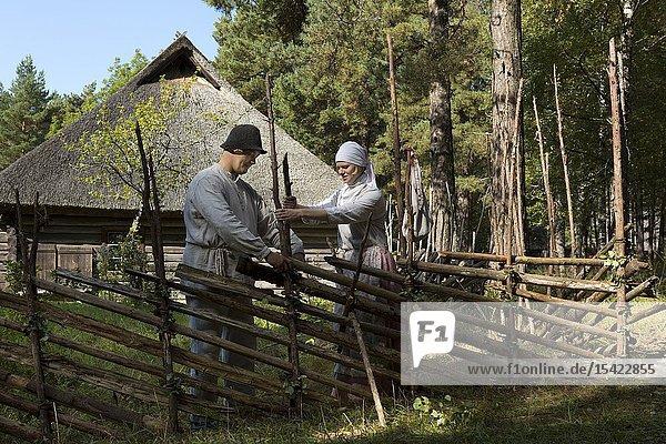 Mending fences in Rocca al Mare Open Air museum