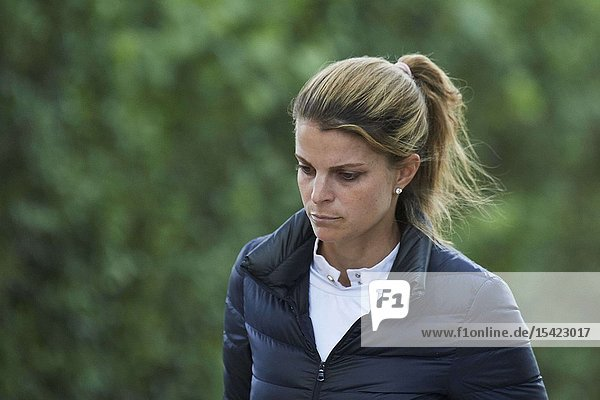 Athina Onassis attends Longines Global Champions Tour 2019 Madrid Day 3 at Club de Campo Villa de Madrid on May 19  2019 in Madrid  Spain
