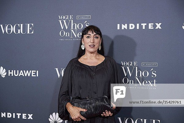 Rossy de Palma attends 'Vogue Who's On Next' Madrid Photocall at Gran Maestre Theatre on May 23  2019 in Madrid  Spain