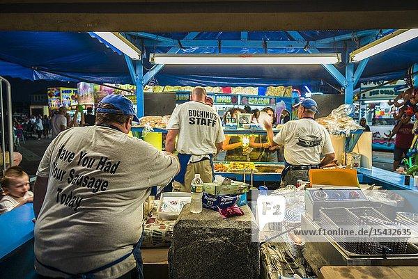 USA  New England  Massachusetts  Cape Ann  Gloucester  Saint Peters Fiesta  Traditional Italian Fishing Community Festival  carnival food  Italian Sausage stand  NR.