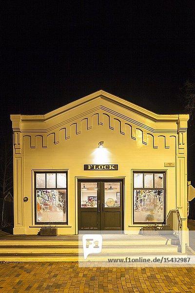 USA  New England  Massachusetts  Nantucket Island  Nantucket Town  historic storefront exterior of the Flock store.
