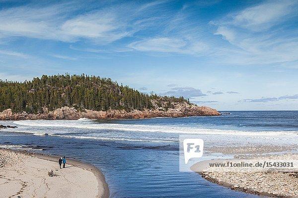 Canada  Nova Scotia  Cabot Trail  Cape Breton HIghlands National Park  Black Brook Beach.