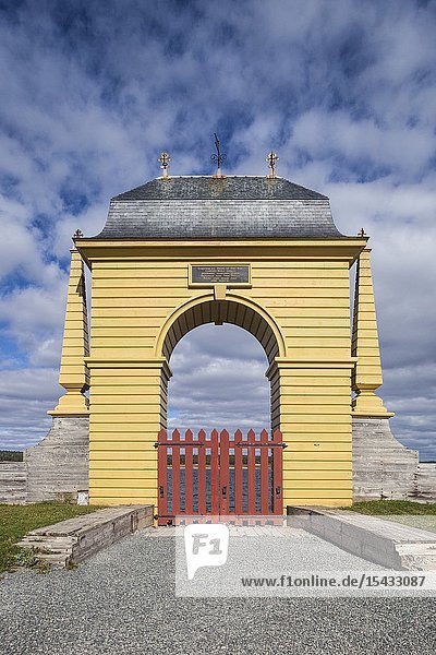 Canada  Nova Scotia  Louisbourg  Fortress of Louisbourg National Historic Park  The Frederic Gate.