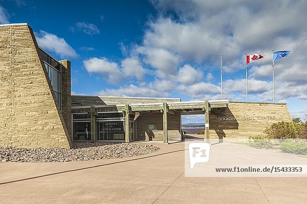 Canada  Nova Scotia  Joggins  Joggins Fossil Cliffs UNESCO World Heritage Site  Joggins Fossil Centre  exterior.
