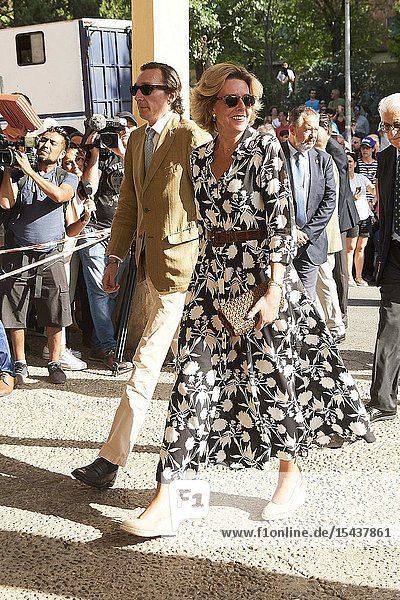 Simoneta Gomez-Acebo Borbon  Fernando Gomez-Acebo Borbon attends Bullfight tribute to Maria de las Mercedes de Borbon at Plaza de Toros de Aranjuez on June 2  2019 in Aranjuez  Spain.This event is the last event as King Juan Carlos of Spain Spain will represent the Spanish Royals before of this retirement