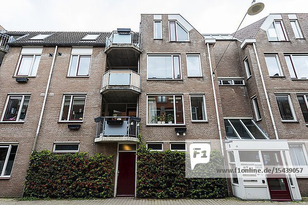 Tilburg  Netherlands. Project apartment building facade down town Tuinstraat.