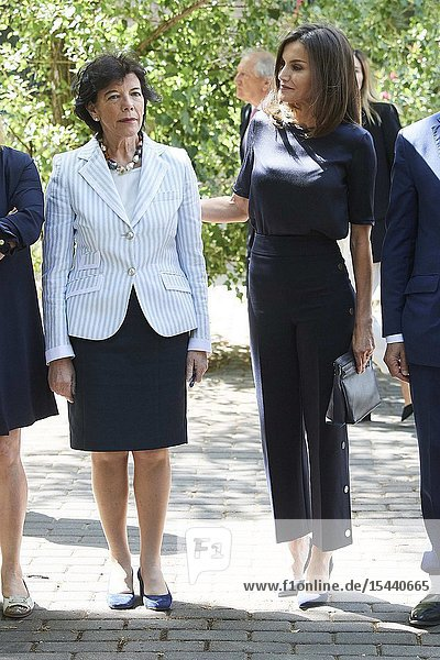 Queen Letizia of Spain attends the annual meeting of the board of the student residence at Residencia de Estudiantes on June 6  2019 in Madrid  Spain
