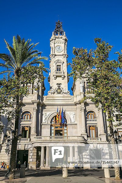 Town Hall. Town Hall Square. Valencia. Comunidad Valenciana. Spain.