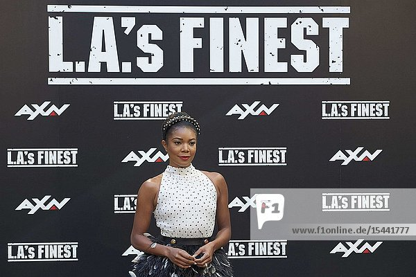 Gabrielle Union attends 'L.A.'s Finest' AXN TV Series photocall at Villamagna Hotel on June 10  2019 in Madrid  Spain