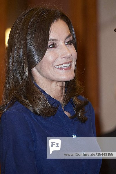 Queen Letizia of Spain attends the Presidency of the Plenary of the Royal Spanish Academy at Real Academia on June 13  2019 in Madrid  Spain