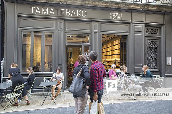 Tamatebako Bar and Cafe  Saint Jaime Street  Bordeaux  France.