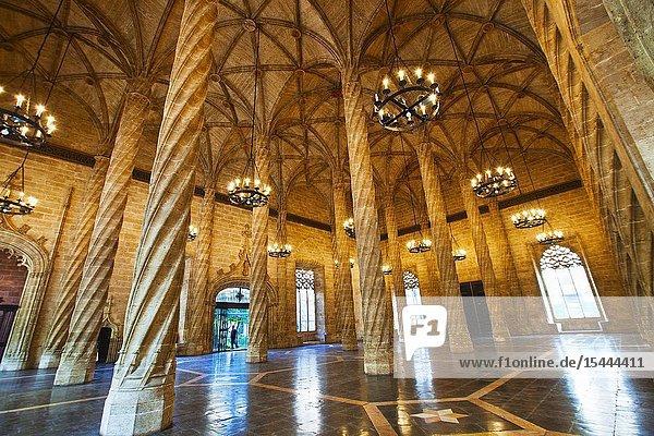 Silk market. World Heritage Site by UNESCO. 16th century. Valencia. Comunidad Valenciana. Spain..