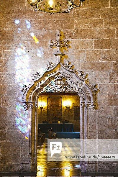 La Lonja de la Seda. Silk market. World Heritage Site by UNESCO. 16th century. Valencia. Comunidad Valenciana. Spain.