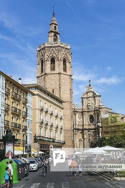 Miguelete  Bell Tower of Santa Maria de Valencia Cathedral. Valencia. Comunidad Valenciana. Spain.