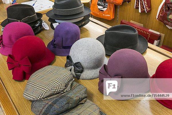 Sombreros Albero  Store hats. Valencia. Comunidad Valenciana. Spain.