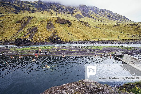 Abandoned Seljvavellir pool in southeast part of Iceland.