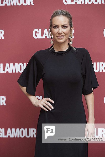 Kira Miro attends a dinner hosted by Glamour Spain in Chiara Ferragni Honor at Santo Mauro Hotel on June 27  2019 in Madrid  Spain