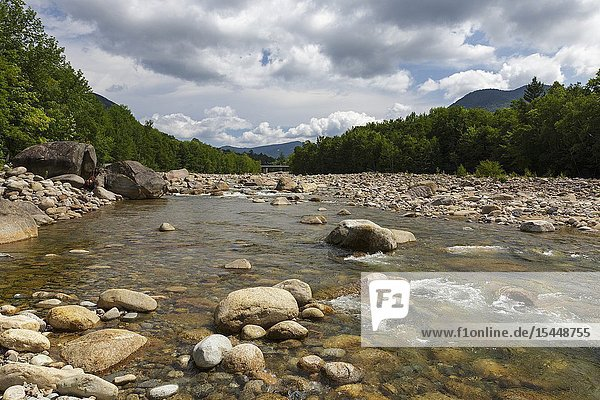 The East Branch of the Pemigewasset River in Lincoln  New Hampshire. near the Loon Mt. Bridge.
