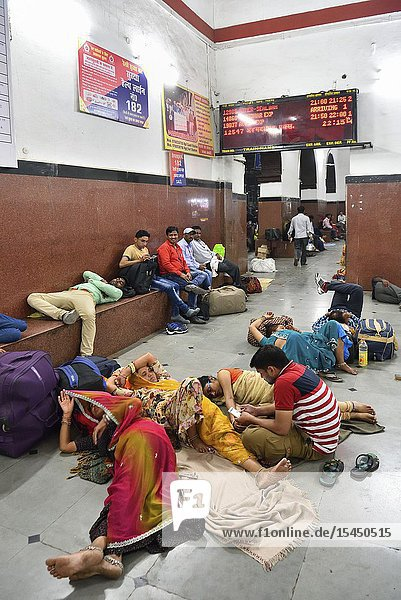 India  Uttar Pradesh  Tundla Junction Railway Station  The waiting room.