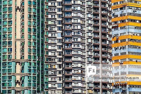 Apartment Blocks  Aberdeen  Hong Kong  China.