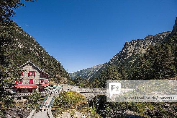 Pont d'Espagne Refuge-Restaurant  Pyrenees national Park (Hautes-Pyrénées Department  Nouvelle-Aquitaine Region  France)