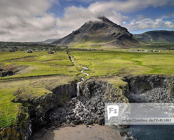 Stapafell  Arnarstapi  Snaefellsnes Peninsula  Iceland.