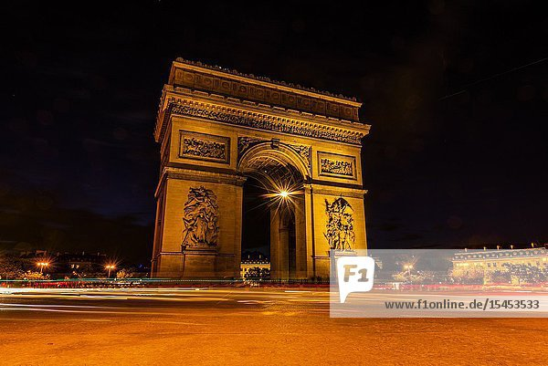 The Arc de Triomphe (The Arc de Triomphe de l'Étoile) is one of the most famous monuments in Paris  France  standing at the western end of the Champs-Élysées at the centre of Place Charles de Gaulle  formerly named Place de l'Étoile.